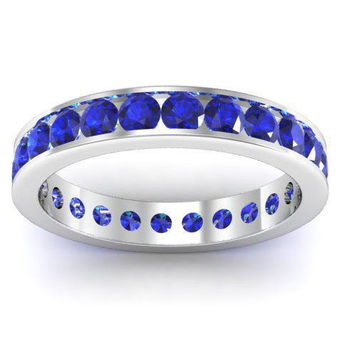 Sapphire Eternity Band in Channel Setting Gemstone Eternity Rings deBebians
