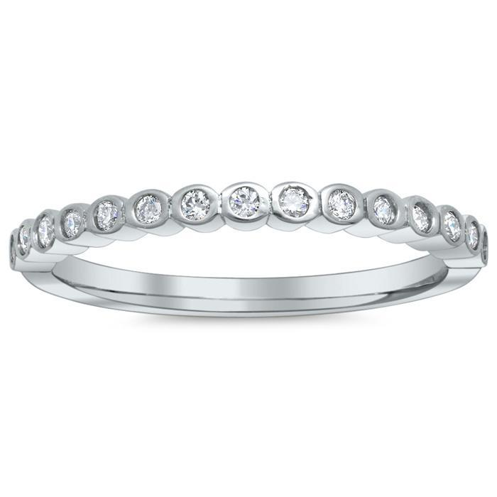 Scalloped Bezel Diamond Wedding Band Diamond Wedding Rings deBebians