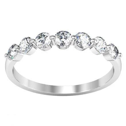 Seven Stone Round Diamond Ring (0.55 cttw) Diamond Wedding Rings debebians