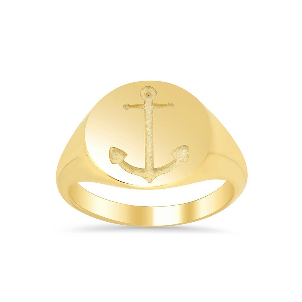 Anchor Signet Ring for Women Signet Rings deBebians