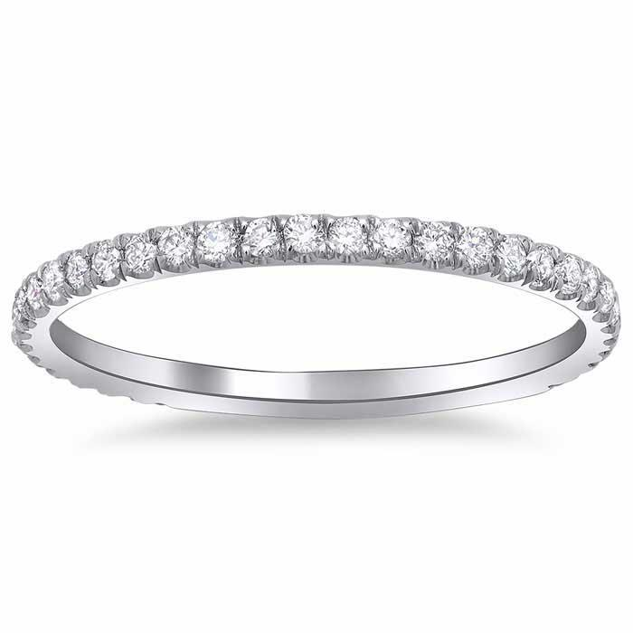 X Pave Diamond Band