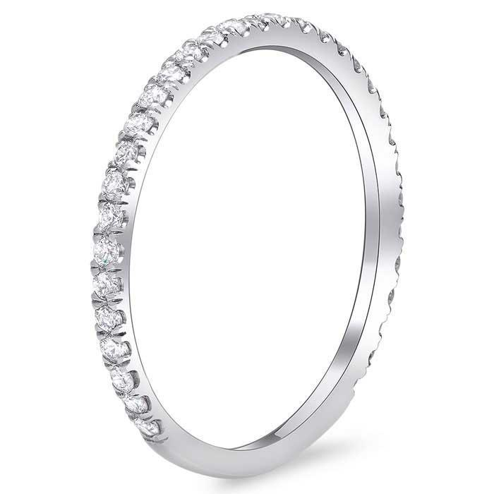 Single Row Diamond Pave Wedding Ring Diamond Wedding Rings deBebians