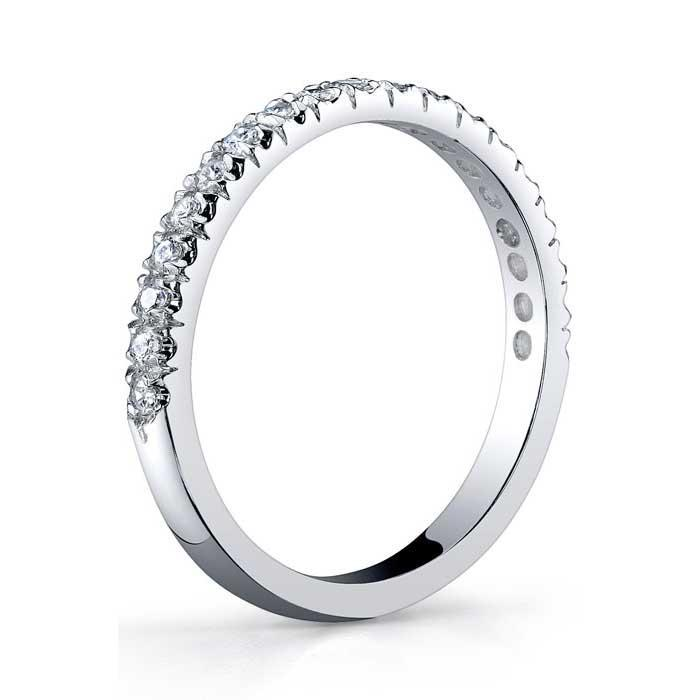 Single Row Half Eternity Wedding Band Half Eternity Rings deBebians