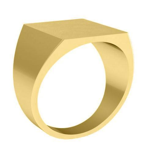 Rectangular Mens Signet Ring Signet Rings deBebians