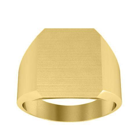 Cut Corners Mens Signet Ring Signet Rings deBebians