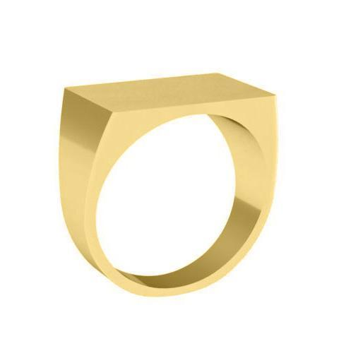 Solid Gold Signet Ring Signet Rings deBebians