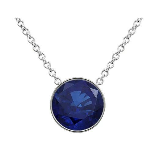 Solitaire Sapphire Necklace Solitaire Necklaces deBebians