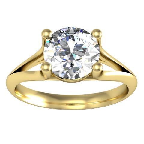 Split Shank Solitaire Engagement Ring Solitaire Engagement Rings deBebians