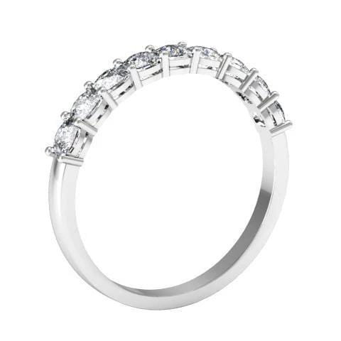 Square Shaped Shared Prong Nine Stone Ring