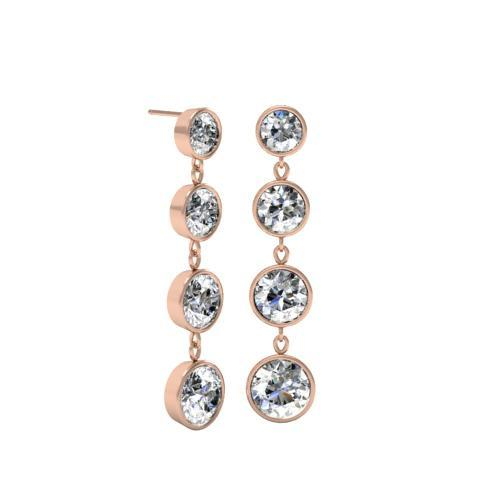 Tapered Dangling Diamond Earrings Gift Ideas Over $1500 deBebians