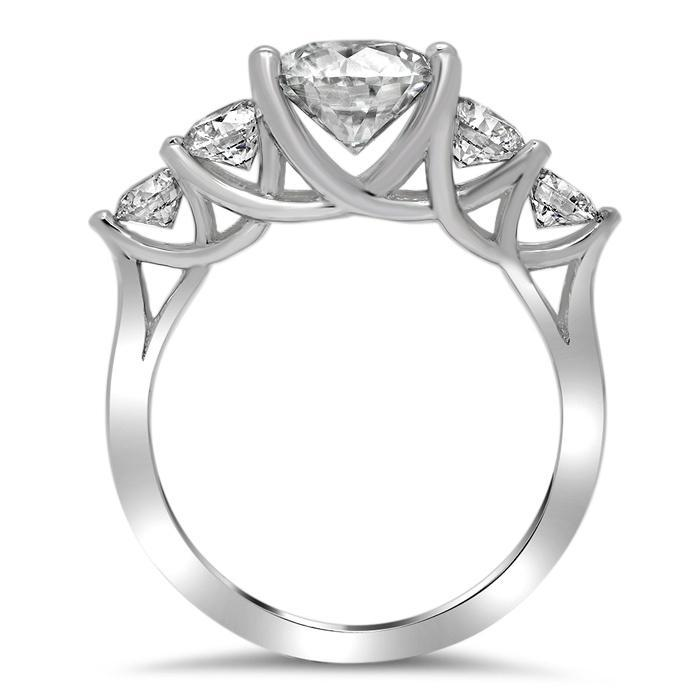 3.00cttw Trellis Radiant Cut Diamond Five Stone Ring