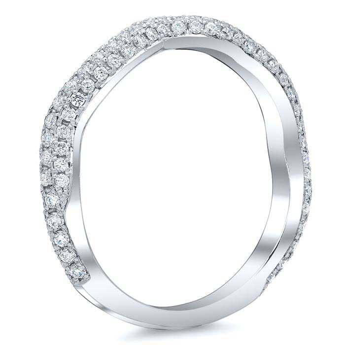 Diamond Twist Shank Pave Band Diamond Wedding Rings deBebians