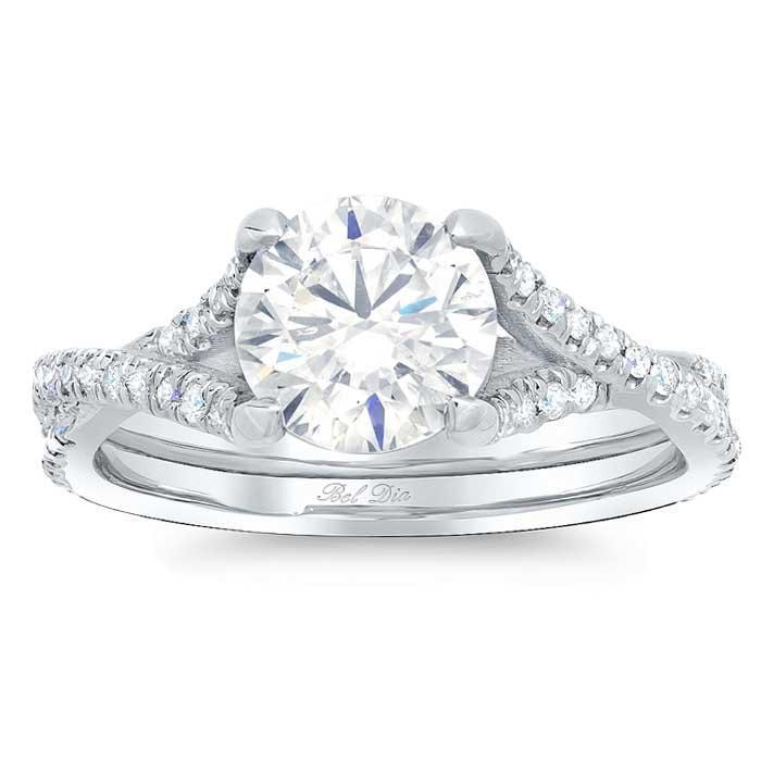 Twisting Moissanite Engagement Ring Moissanite Engagement Rings deBebians