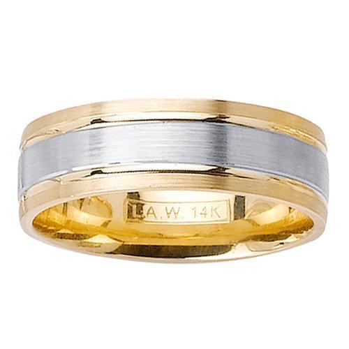 7mm Two Toned Wedding Band