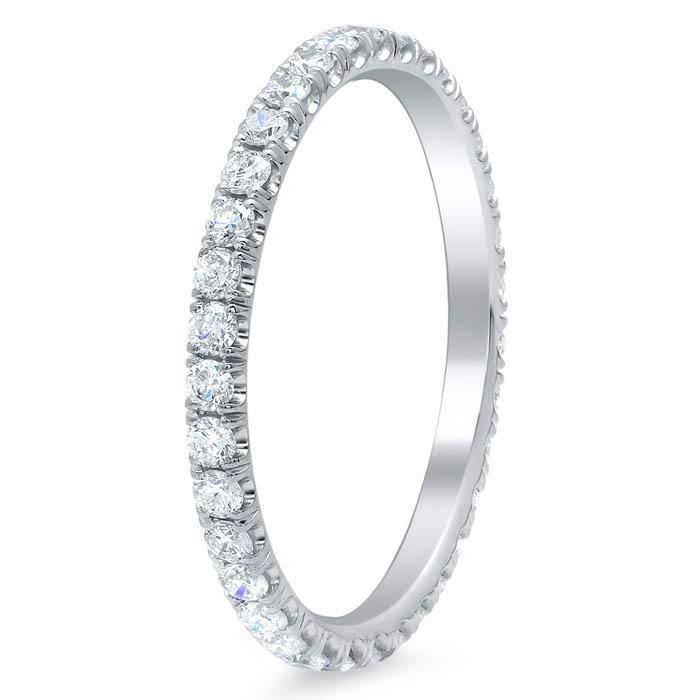 Ultra-Thin Diamond Pave Eternity Band - 0.50 cttw Diamond Eternity Rings deBebians