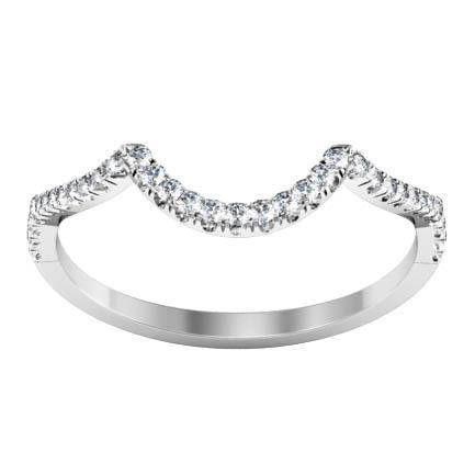 U-Pave Diamond Wedding Ring Half Eternity Rings deBebians