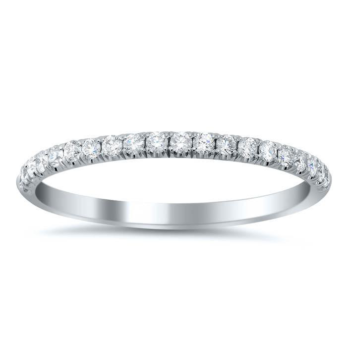 Whimsical Diamond Wedding Ring with Alternating Pattern