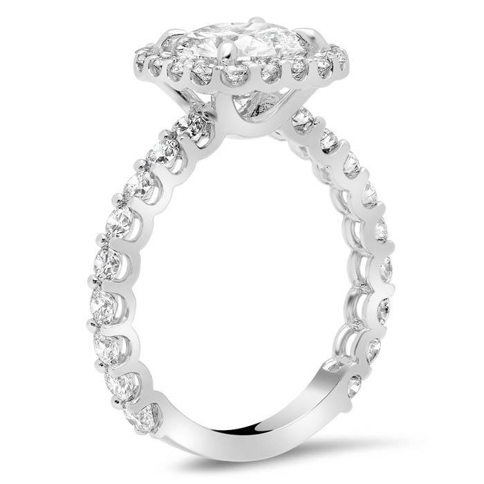 U-Prong Halo Engagement Ring Halo Engagement Rings deBebians
