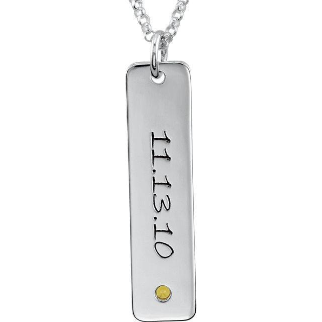 Vertical Name Pendant Necklace Personalized Necklaces deBebians