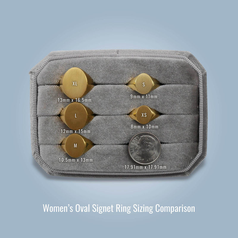 Women's Oval Signet Ring - Small Signet Rings deBebians