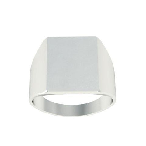 Chunky Square Trendy Signet Ring Women Signet Rings deBebians