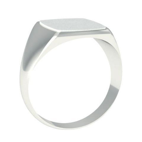 Step Edge Surface Signet Ring Gold Signet Rings deBebians
