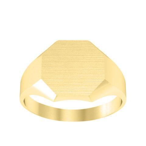 Ladies Signet Rings Chunky Octagon Signet Rings deBebians