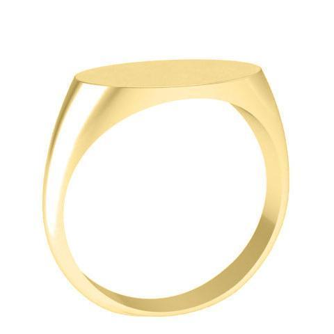 Ladies Gold Signet Ring Long Oval Signet Rings deBebians