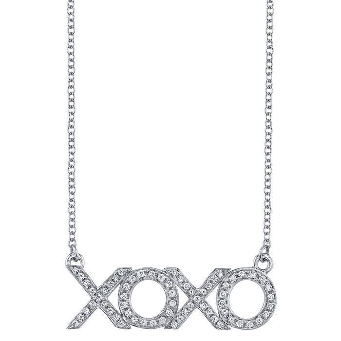 XOXO Diamond Pendant Diamond Necklaces deBebians