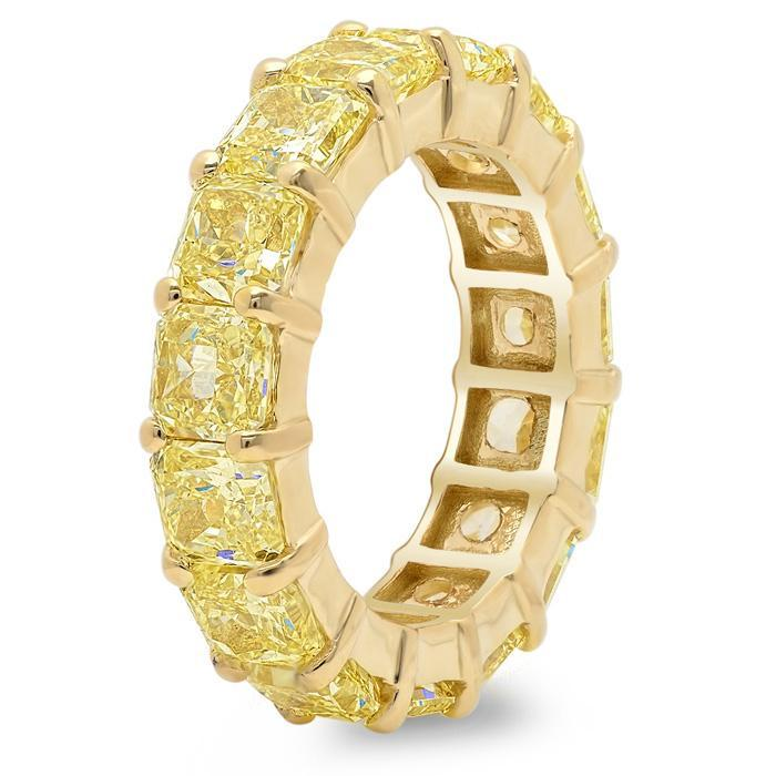 Yellow Diamond and Yellow Gold Eternity Ring Diamond Eternity Rings deBebians