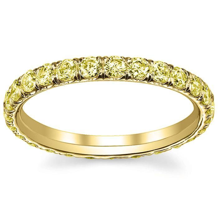 Yellow Gold Yellow Diamond Eternity Band