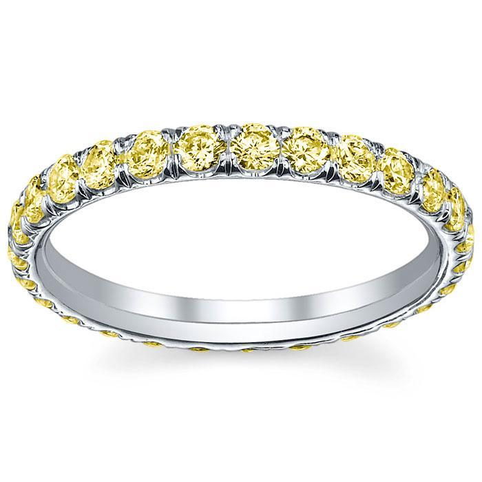 Yellow Gold Yellow Diamond Eternity Band Diamond Eternity Rings deBebians