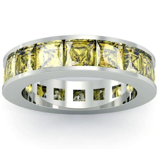Yellow Sapphire Birth Stone Eternity Band Gemstone Eternity Rings deBebians