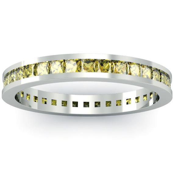 Yellow Sapphire Eternity Ring Gemstone Eternity Rings deBebians