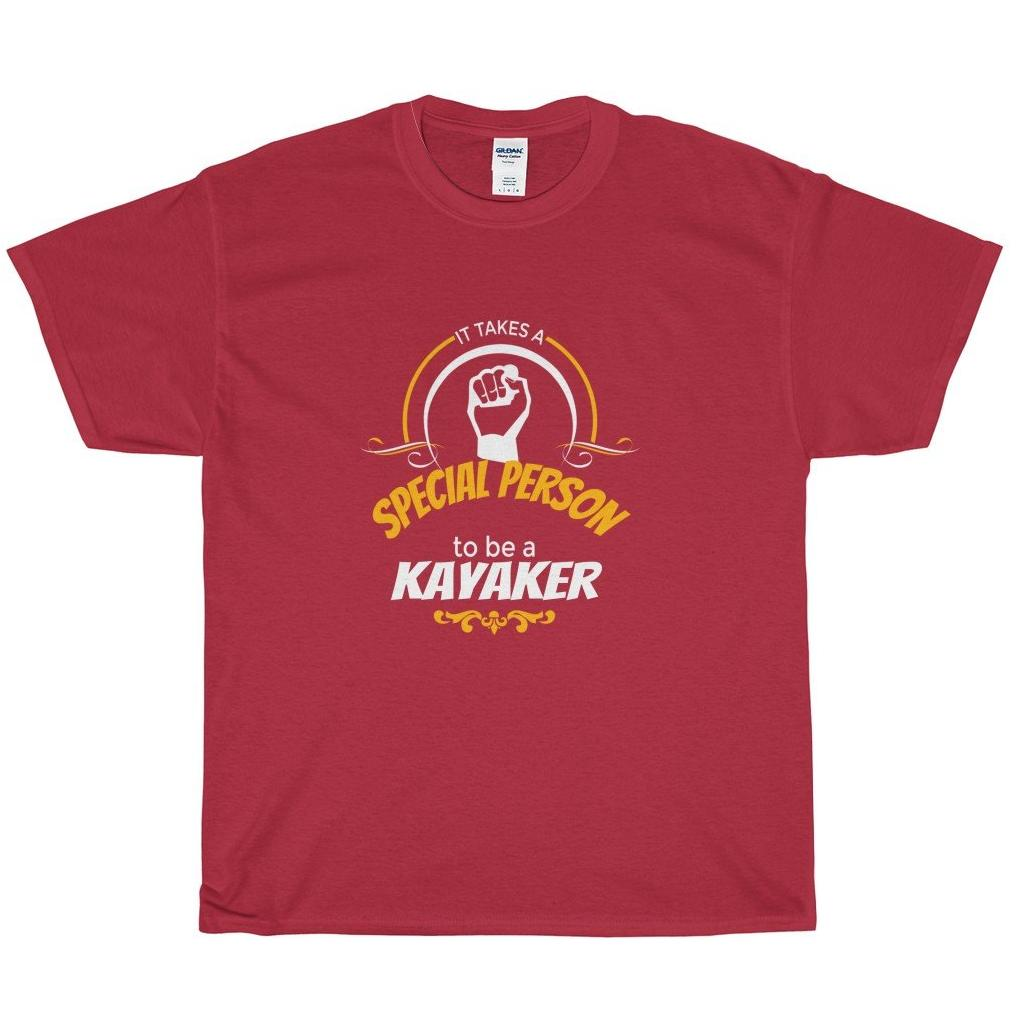 Kayaker, 'A Special Person', Heavy Cotton Tee Shirt