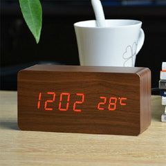 FiBiSonic LED Alarm Clocks, Time & Temperature, Sound Control LED Display