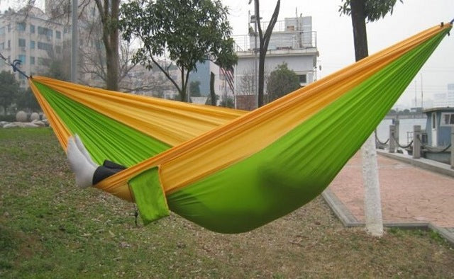 Parachute Nylon Double Hammock for Garden or Camping