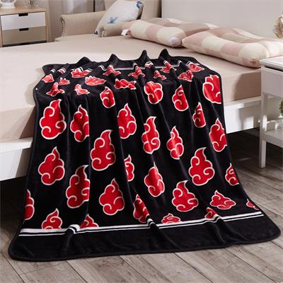Japanese Red Cloud Fleece Blanket