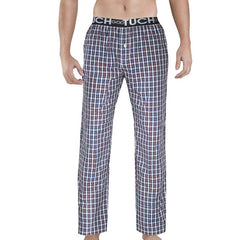 Men's Plaid Sleep Bottoms Wide Elastic Waist Band