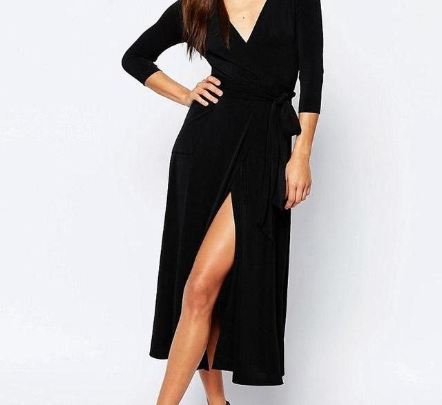 Women's Kaftan Sexy V-Neck Beach Dress