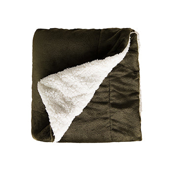 Sherpa Soft Fleece Two Tone Blanket