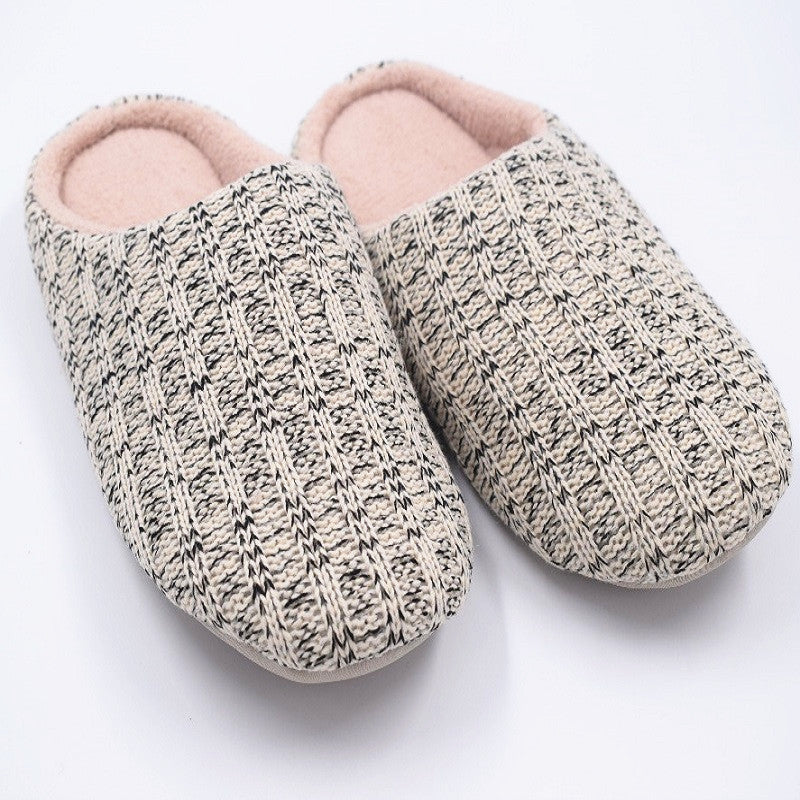Woven Wool Men's Home Slippers