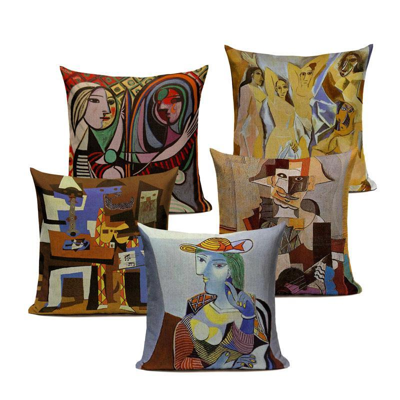 Pablo Picasso Famous Paintings Printed on Linen Cushion Covers