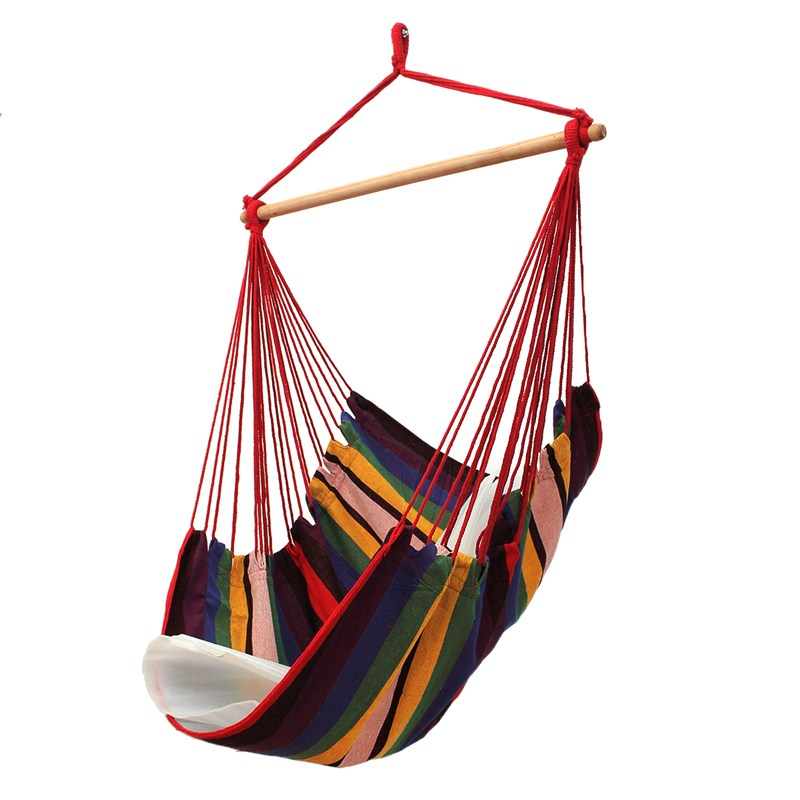 Patio Porch Hanging Cotton Rope Hammock Swing Chair