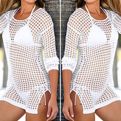 Sexy Mesh Crochet Ladie's Beach Cover Up