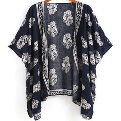 Women's Beach Cardigan Printed Top