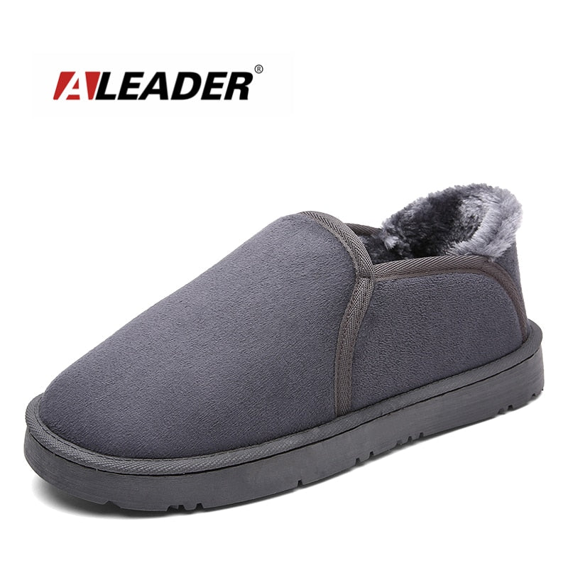UniSex Plush Fur Suede Bedroom Slippers