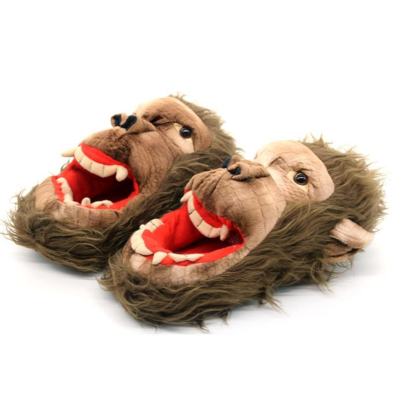 Zombie Monkey Plush Slippers