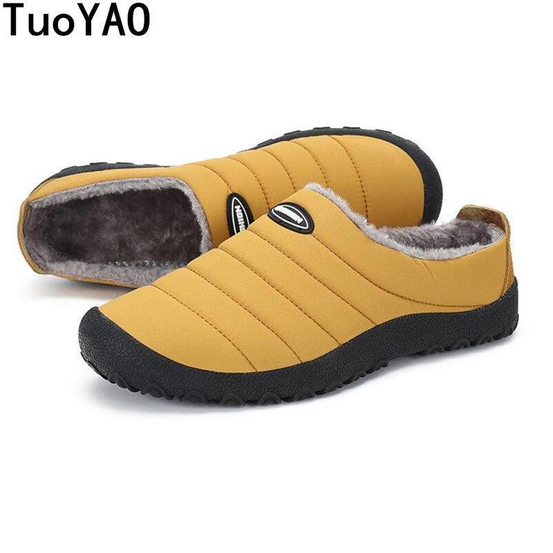 Thermal Fur Lined Padded Slippers