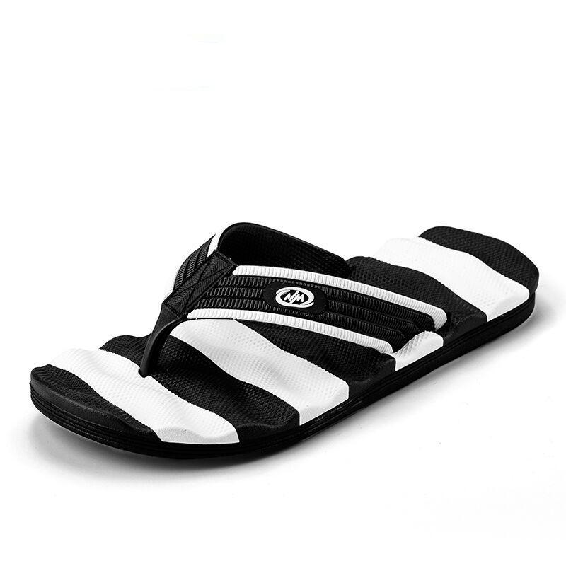 Zebra Stripe Men's Casual Flip Flop Sandals